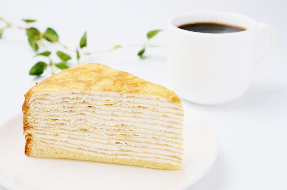 ミルクレープとコーヒー